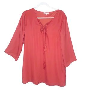 Honey Belle Lace Up Tie Tunic Dress Size Large